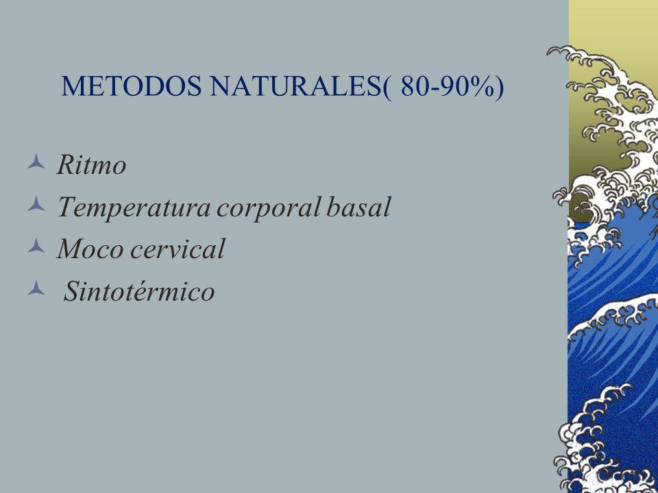 METODOS NATURALES( 80-90%)
