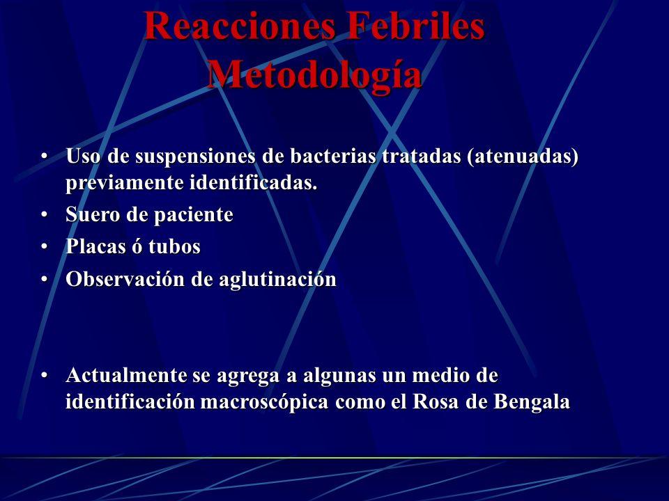 Reacciones Febriles Metodología