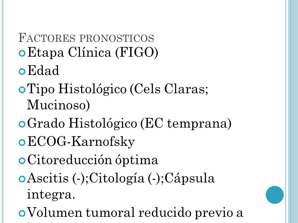 Tipo Histológico (Cels Claras; Mucinoso)