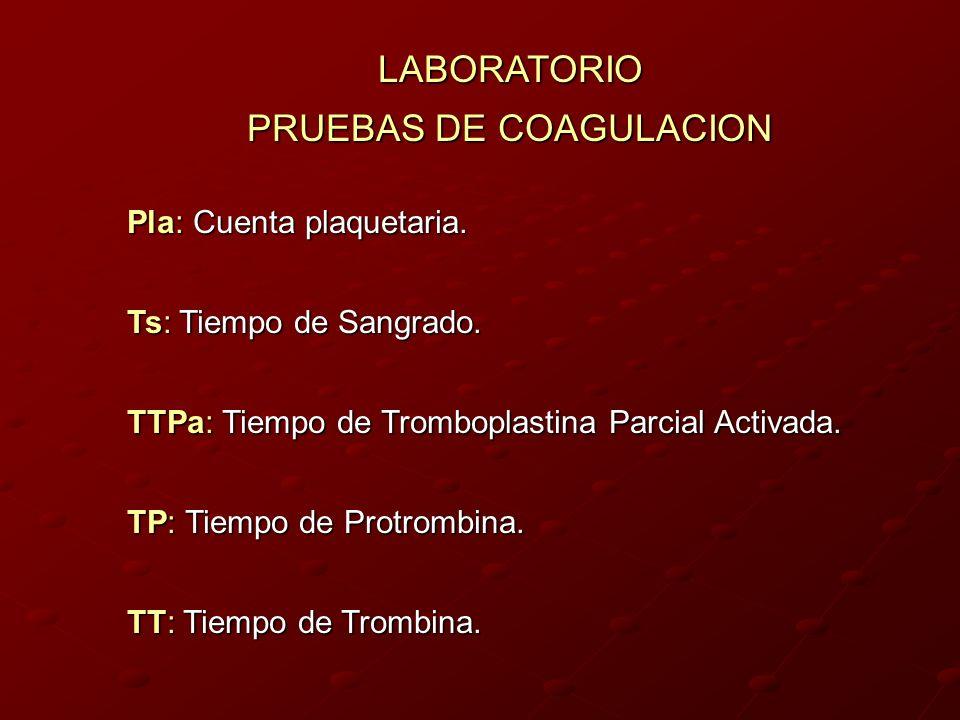 PRUEBAS DE COAGULACION