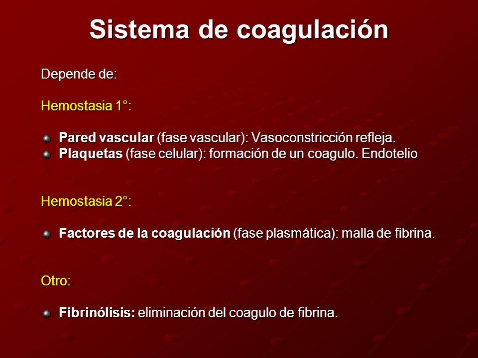 Sistema de coagulación