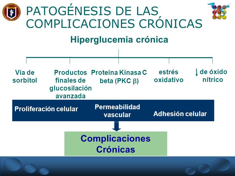 PATOGÉNESIS DE LAS COMPLICACIONES CRÓNICAS