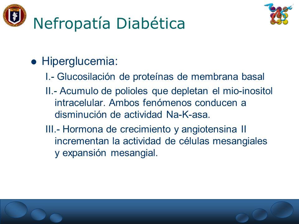 Nefropatía Diabética Hiperglucemia: