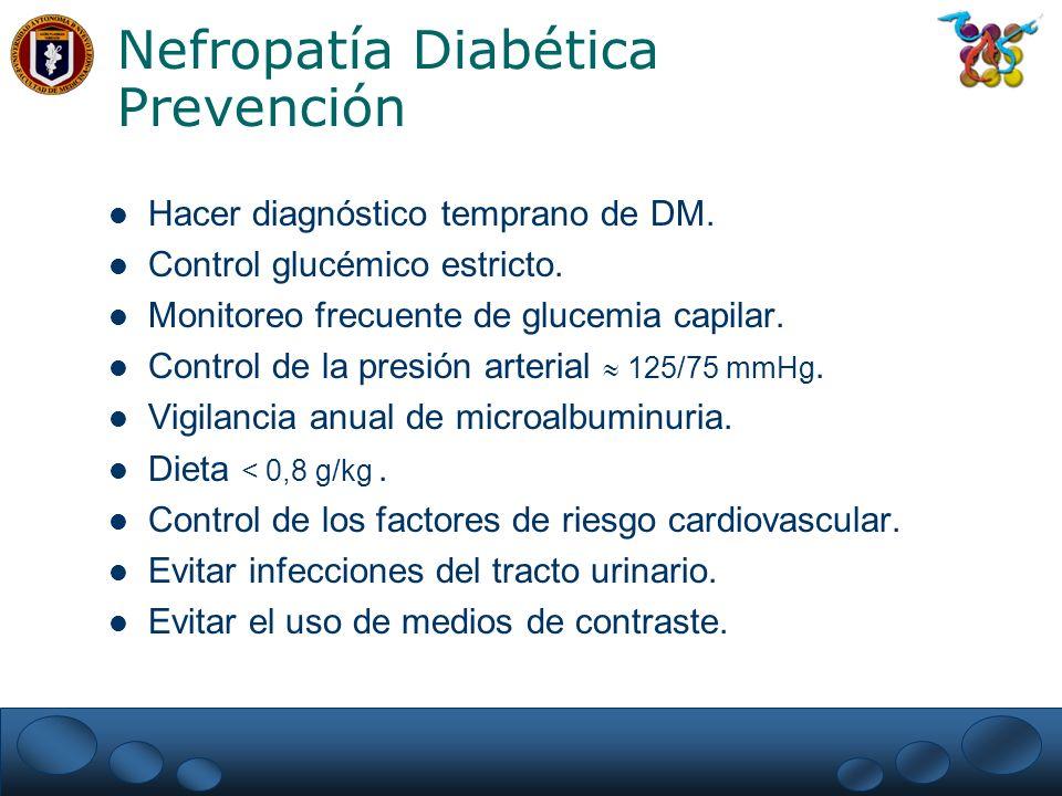 Nefropatía Diabética Prevención