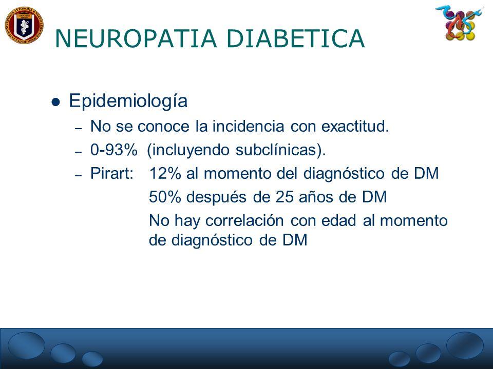 NEUROPATIA DIABETICA Epidemiología