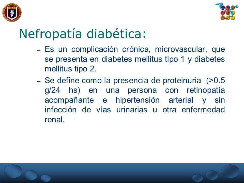 Nefropatía diabética: