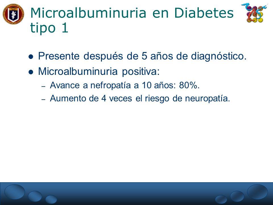 Microalbuminuria en Diabetes tipo 1