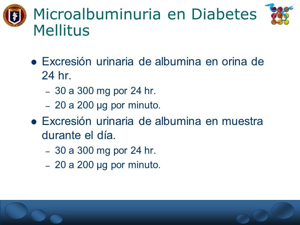 Microalbuminuria en Diabetes Mellitus