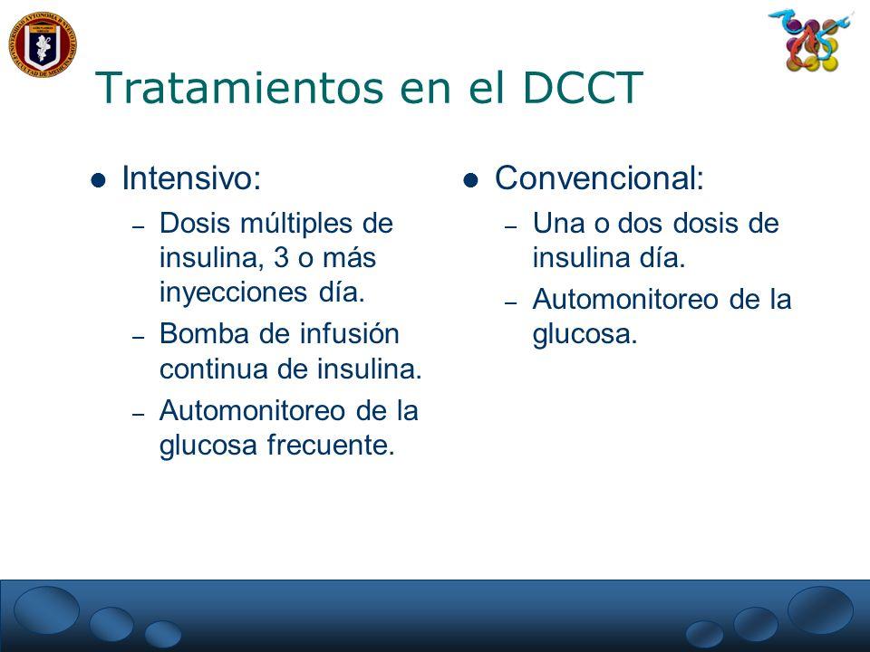 Tratamientos en el DCCT