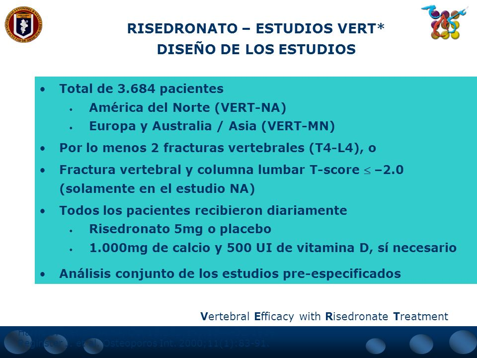 RISEDRONATO – ESTUDIOS VERT*