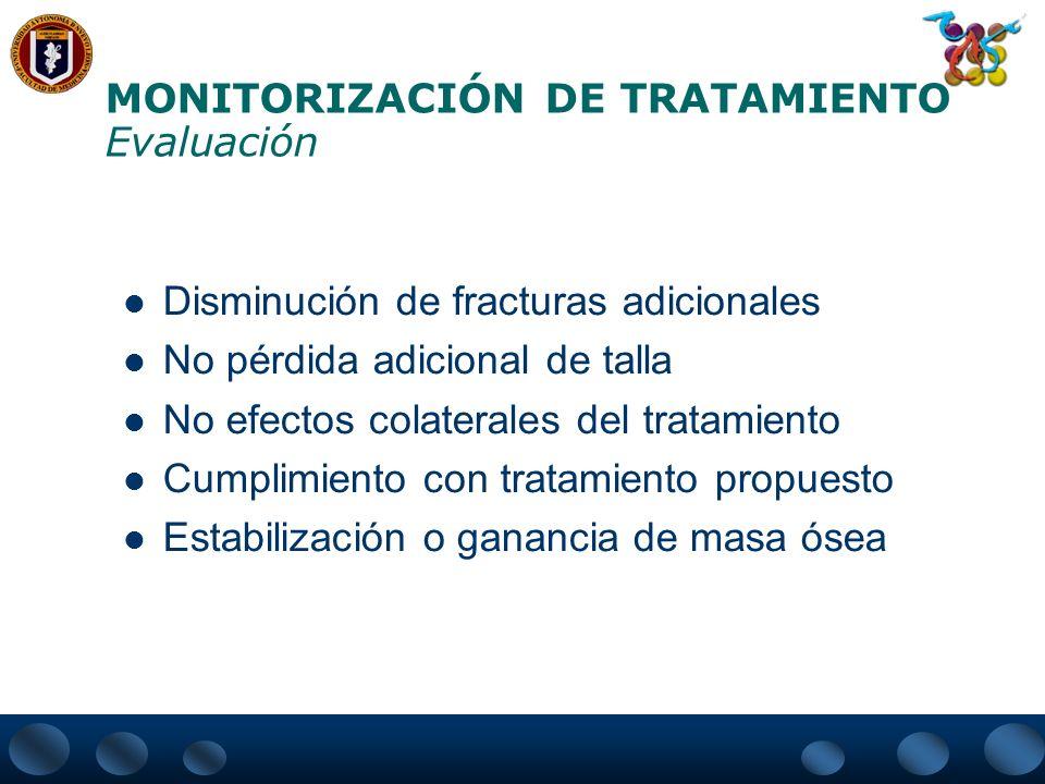 MONITORIZACIÓN DE TRATAMIENTO Evaluación