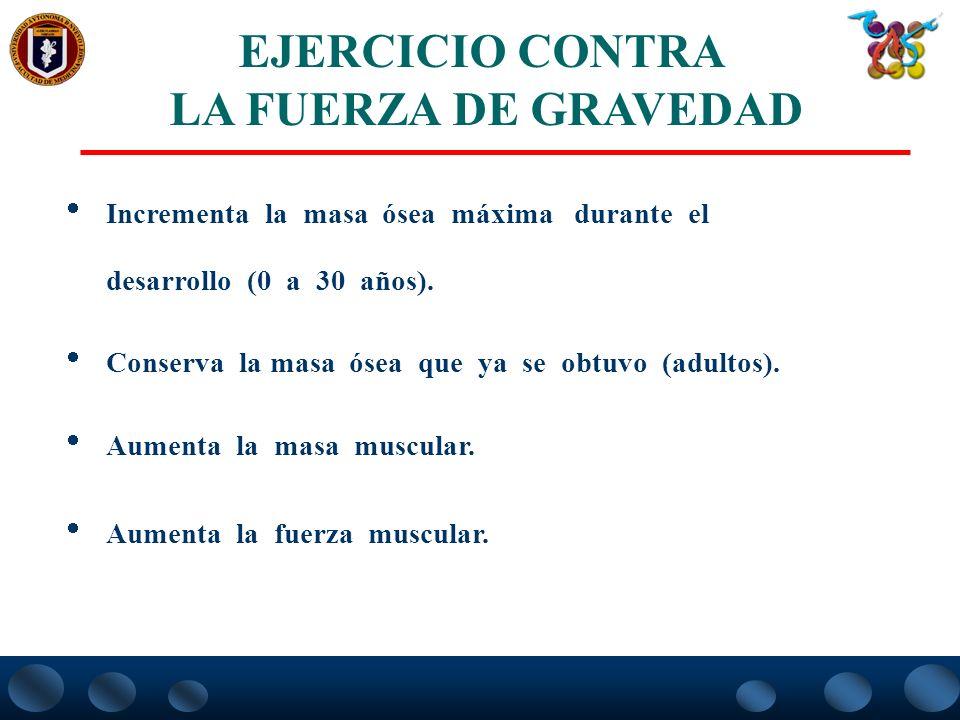 EJERCICIO CONTRA LA FUERZA DE GRAVEDAD