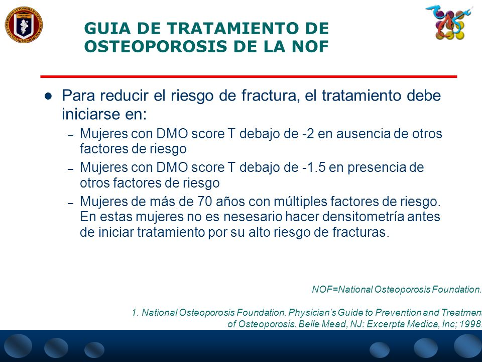 GUIA DE TRATAMIENTO DE OSTEOPOROSIS DE LA NOF