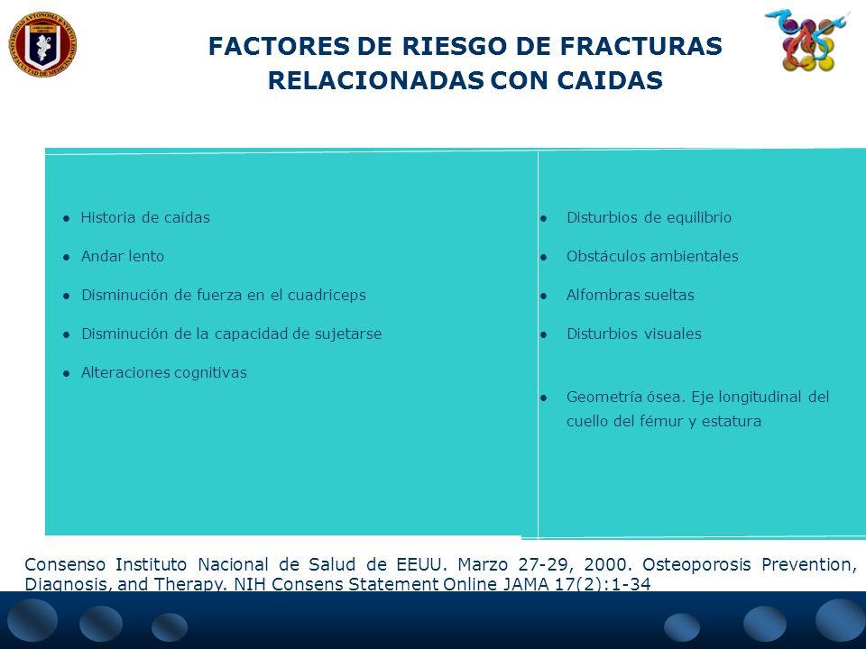 FACTORES DE RIESGO DE FRACTURAS RELACIONADAS CON CAIDAS