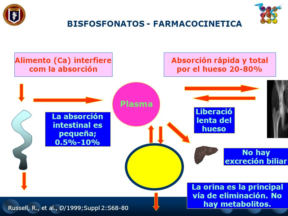BISFOSFONATOS - FARMACOCINETICA Plasma