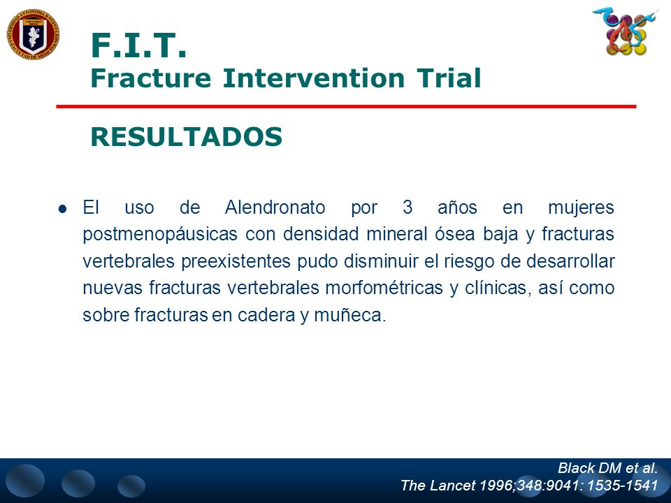 F.I.T. Fracture Intervention Trial RESULTADOS