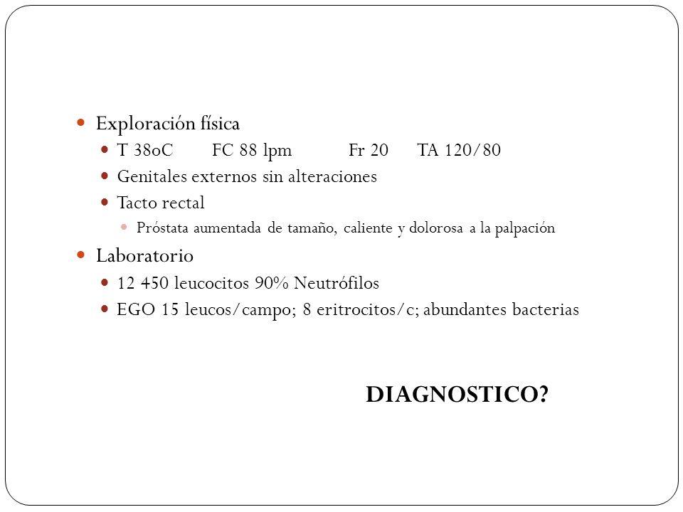 DIAGNOSTICO Exploración física Laboratorio