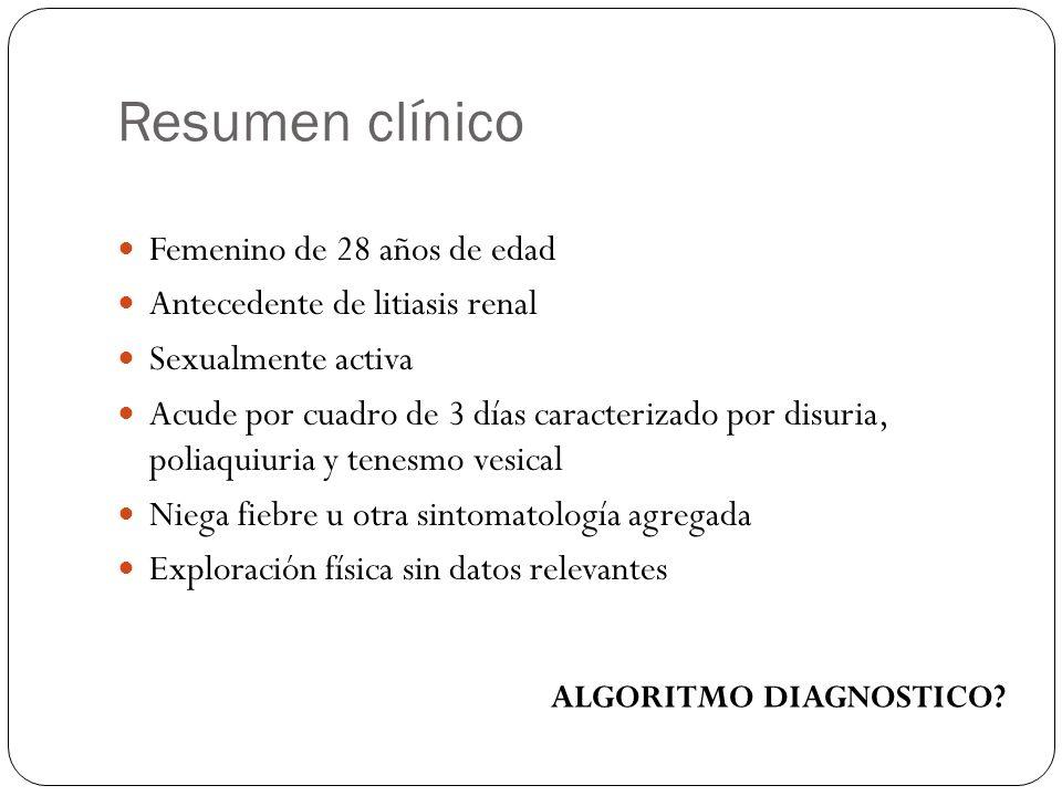 Resumen clínico Femenino de 28 años de edad