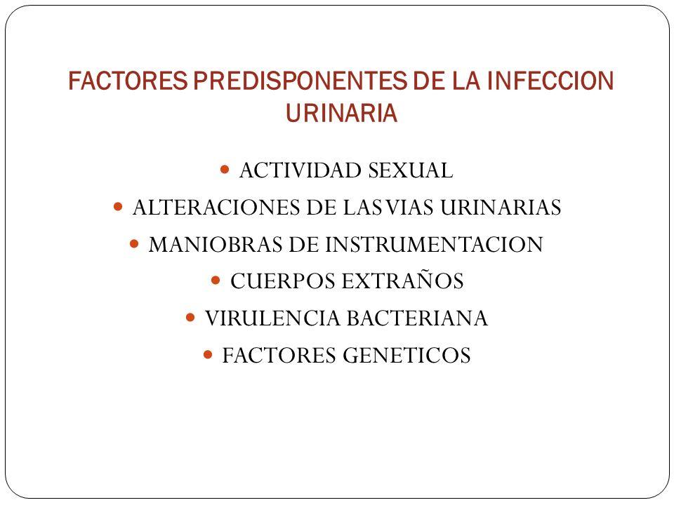FACTORES PREDISPONENTES DE LA INFECCION URINARIA