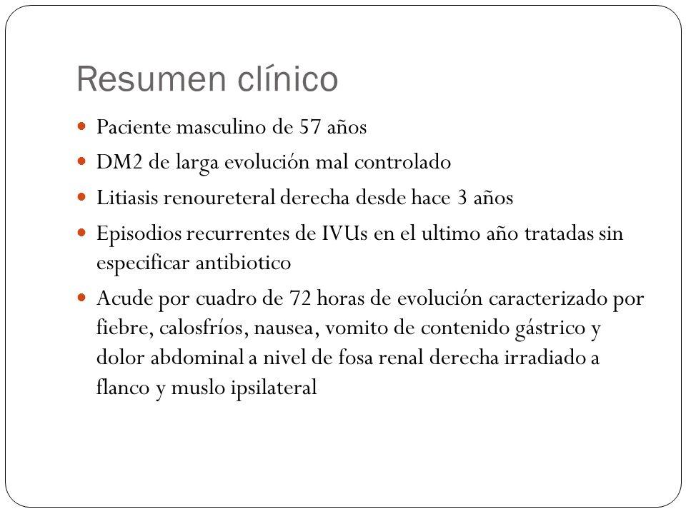 Resumen clínico Paciente masculino de 57 años