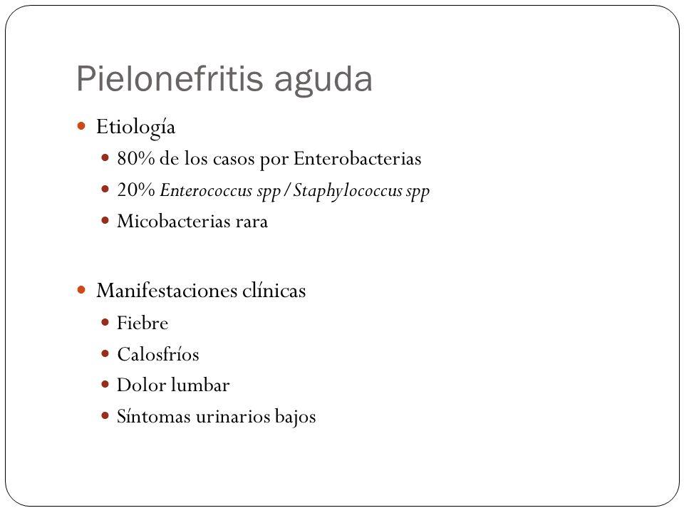 Pielonefritis aguda Etiología Manifestaciones clínicas