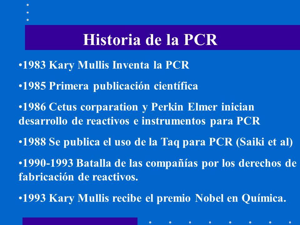 Historia de la PCR 1983 Kary Mullis Inventa la PCR
