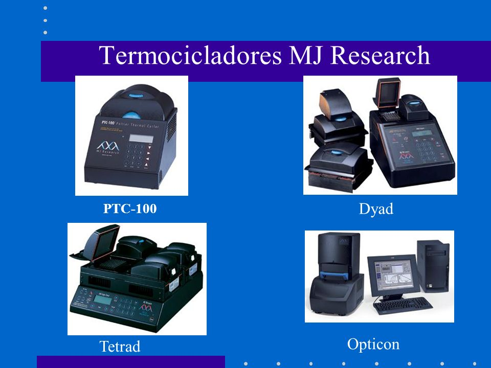 Termocicladores MJ Research
