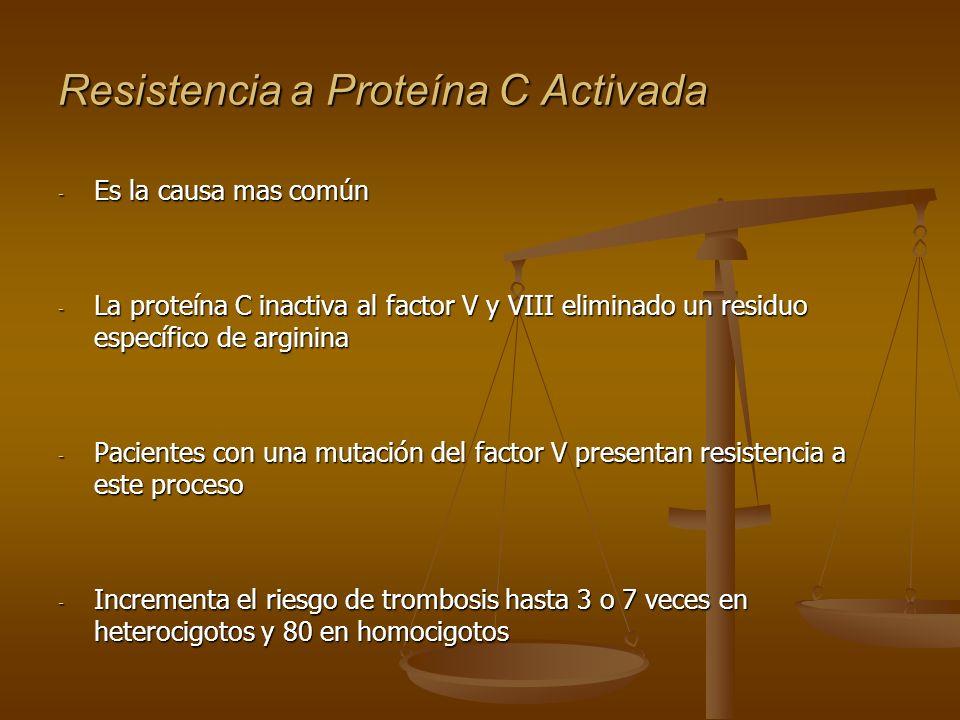 Resistencia a Proteína C Activada