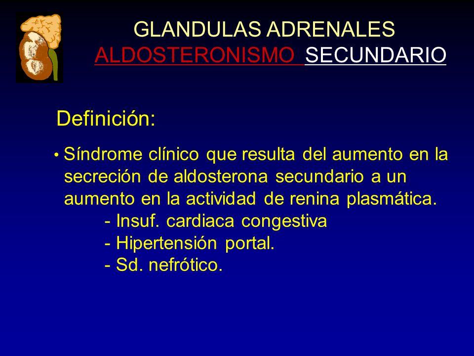 GLANDULAS ADRENALES ALDOSTERONISMO SECUNDARIO