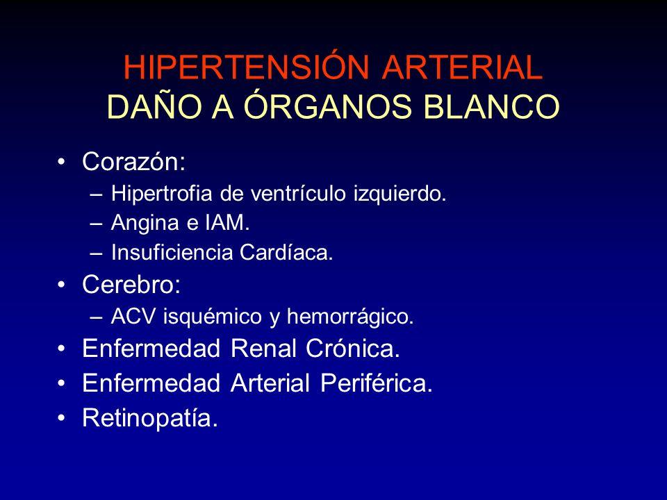 HIPERTENSIÓN ARTERIAL DAÑO A ÓRGANOS BLANCO