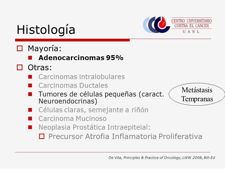 Histología Mayoría: Otras: Metástasis Tempranas