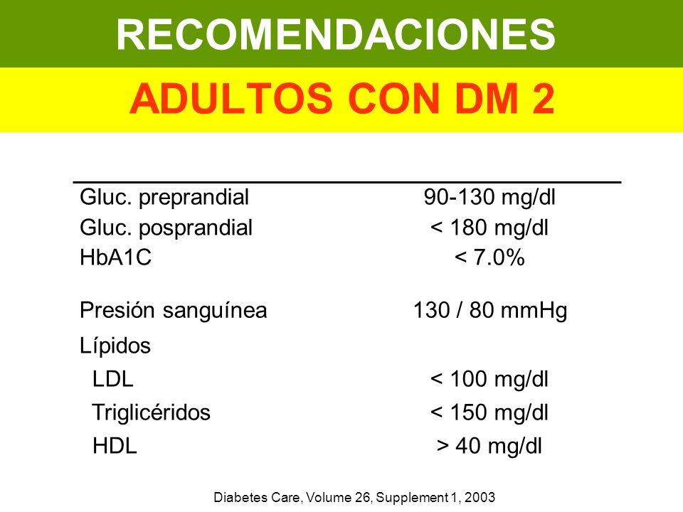 RECOMENDACIONES ADULTOS CON DM 2