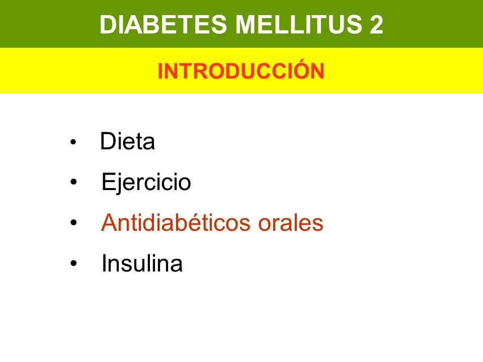 DIABETES MELLITUS 2 Ejercicio Antidiabéticos orales Insulina