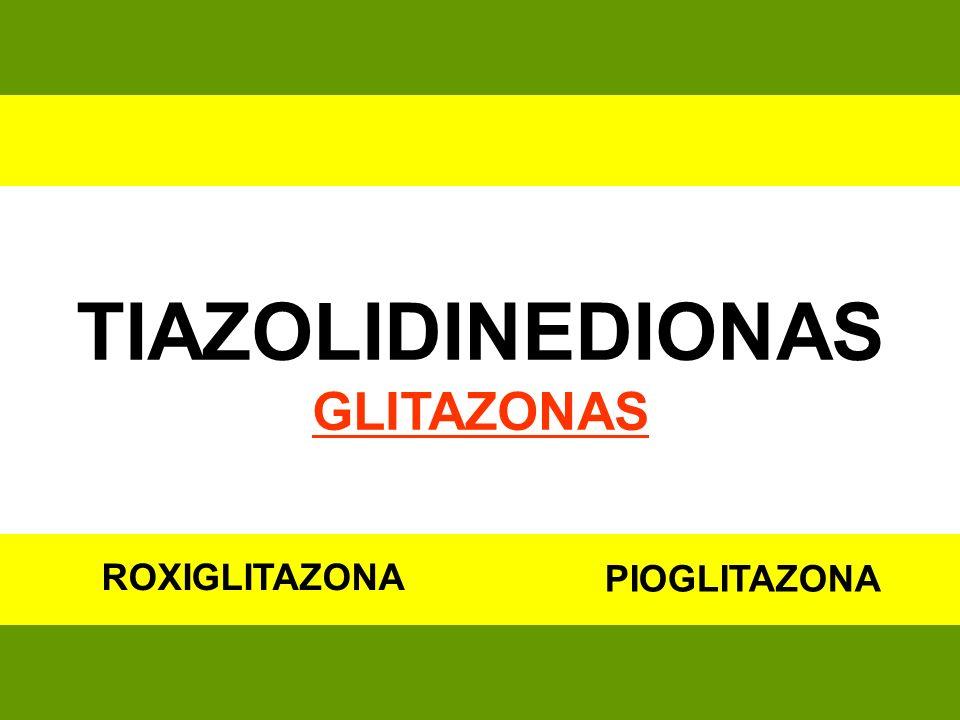 TIAZOLIDINEDIONAS GLITAZONAS ROXIGLITAZONA PIOGLITAZONA