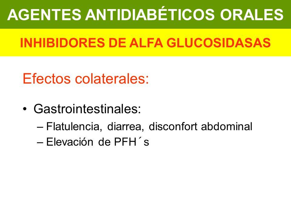 AGENTES ANTIDIABÉTICOS ORALES INHIBIDORES DE ALFA GLUCOSIDASAS