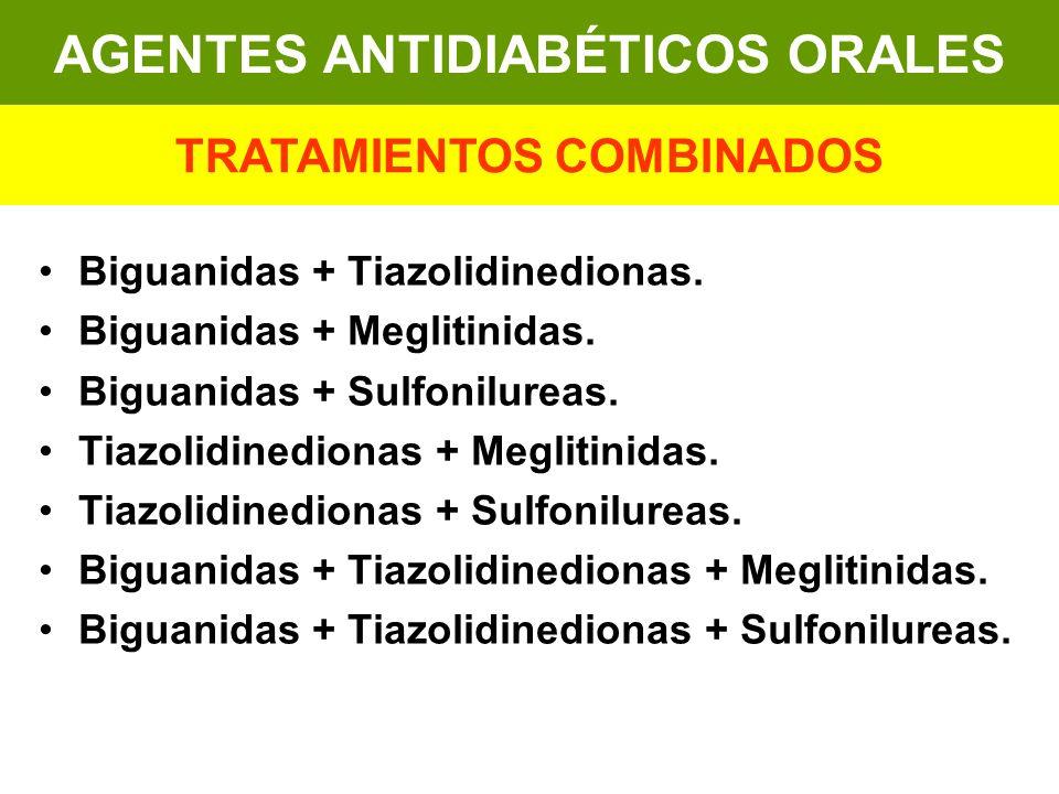 AGENTES ANTIDIABÉTICOS ORALES TRATAMIENTOS COMBINADOS