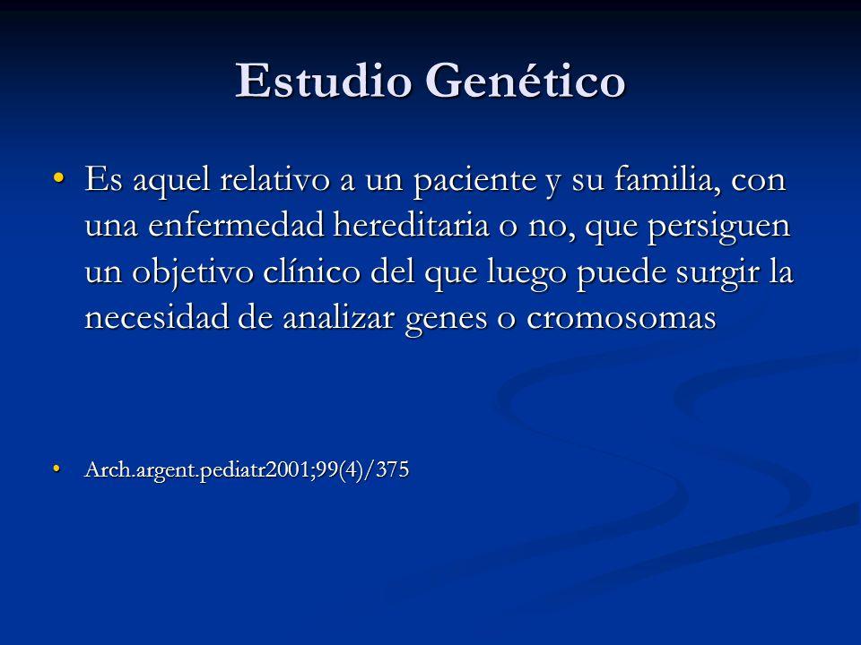 Estudio Genético