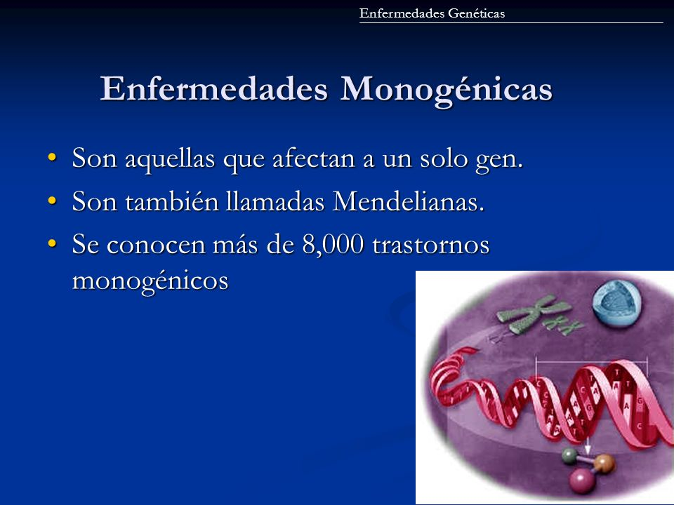 Enfermedades Monogénicas
