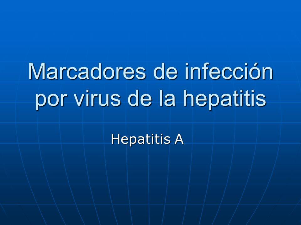Marcadores de infección por virus de la hepatitis