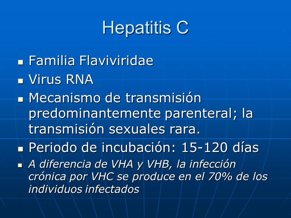 Hepatitis C Familia Flaviviridae Virus RNA