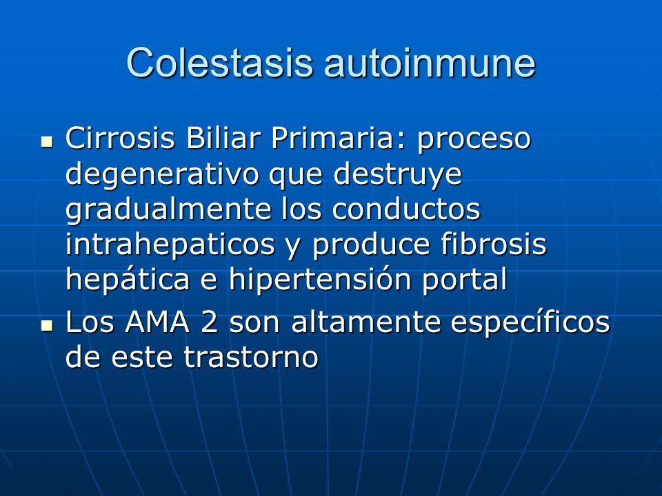 Colestasis autoinmune