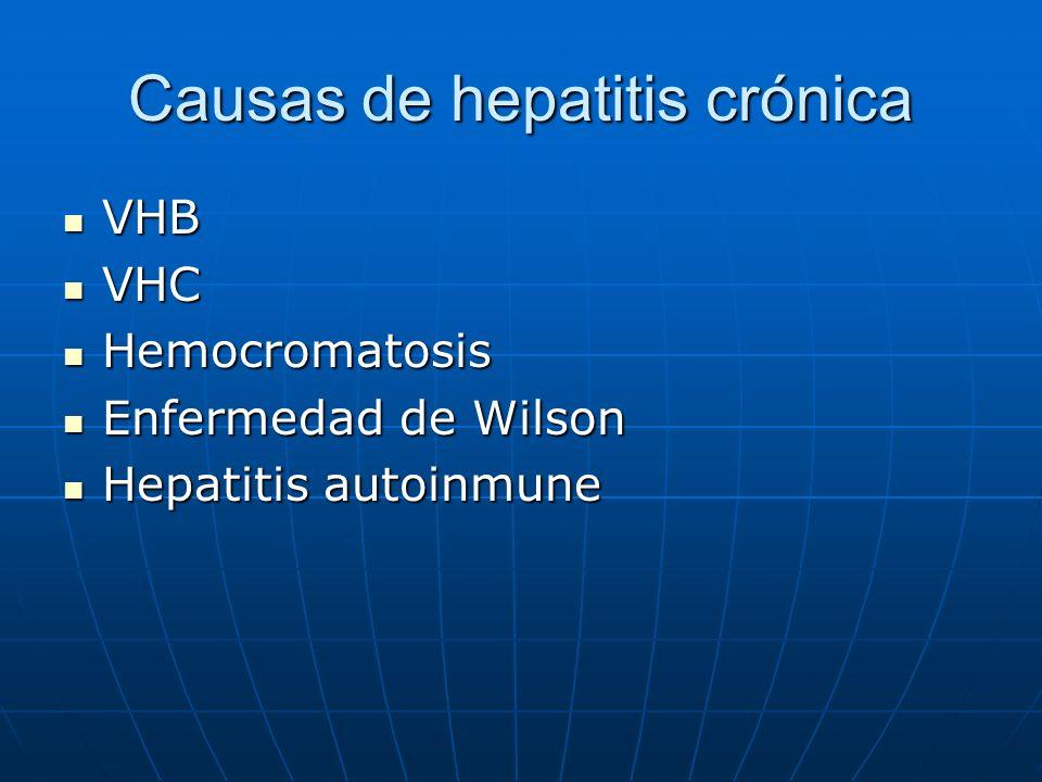 Causas de hepatitis crónica