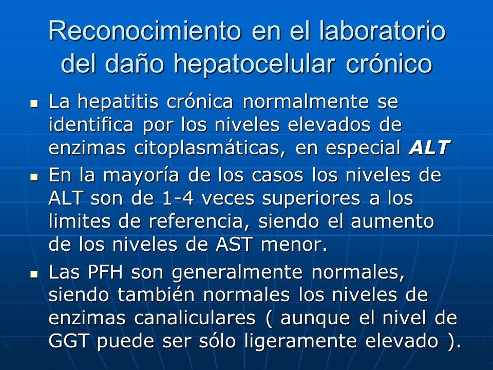 Reconocimiento en el laboratorio del daño hepatocelular crónico