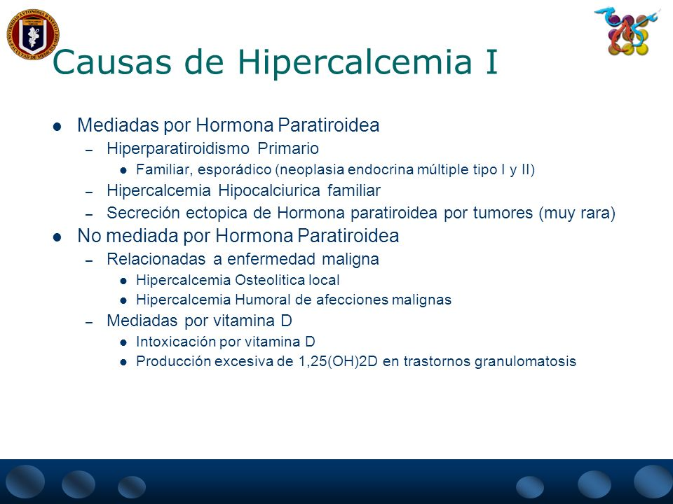 Causas de Hipercalcemia I