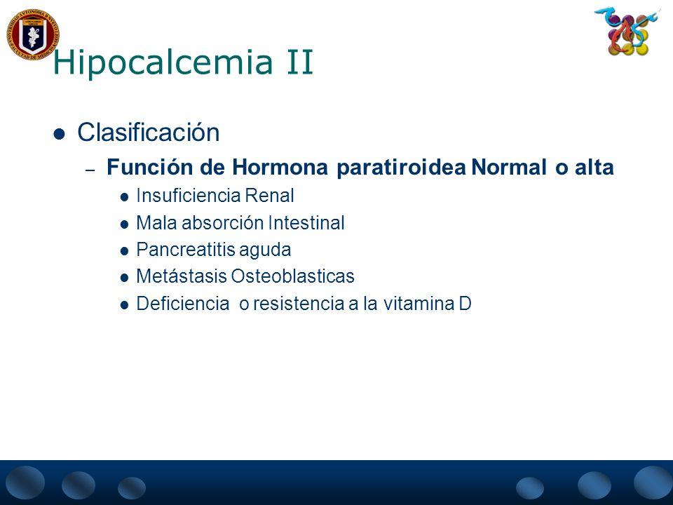 Hipocalcemia II Clasificación