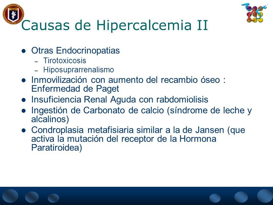 Causas de Hipercalcemia II