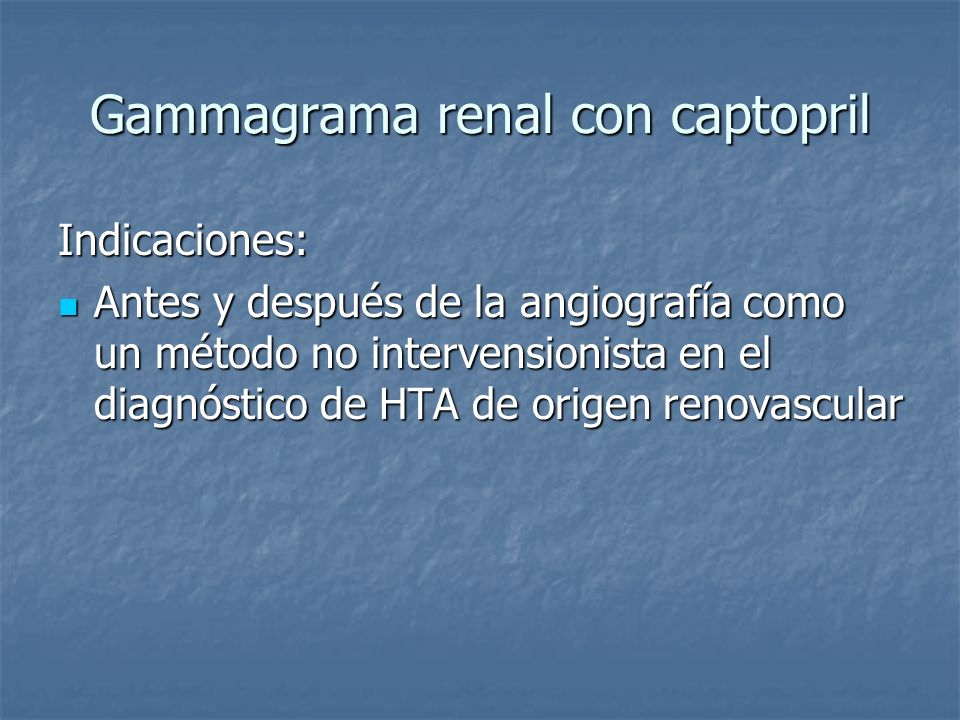Gammagrama renal con captopril