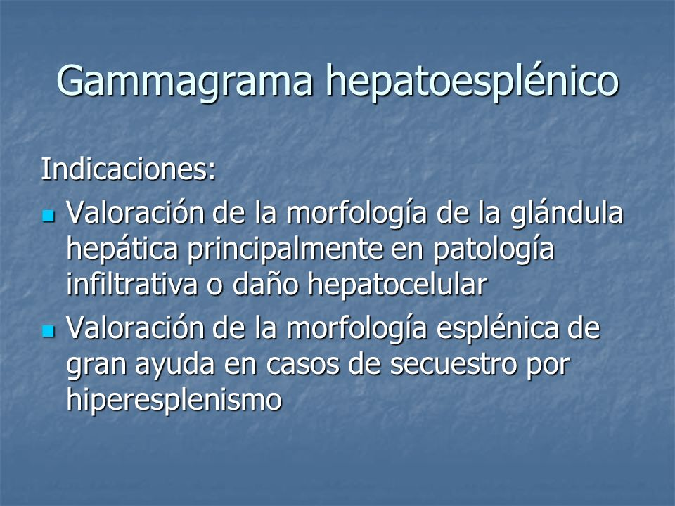 Gammagrama hepatoesplénico
