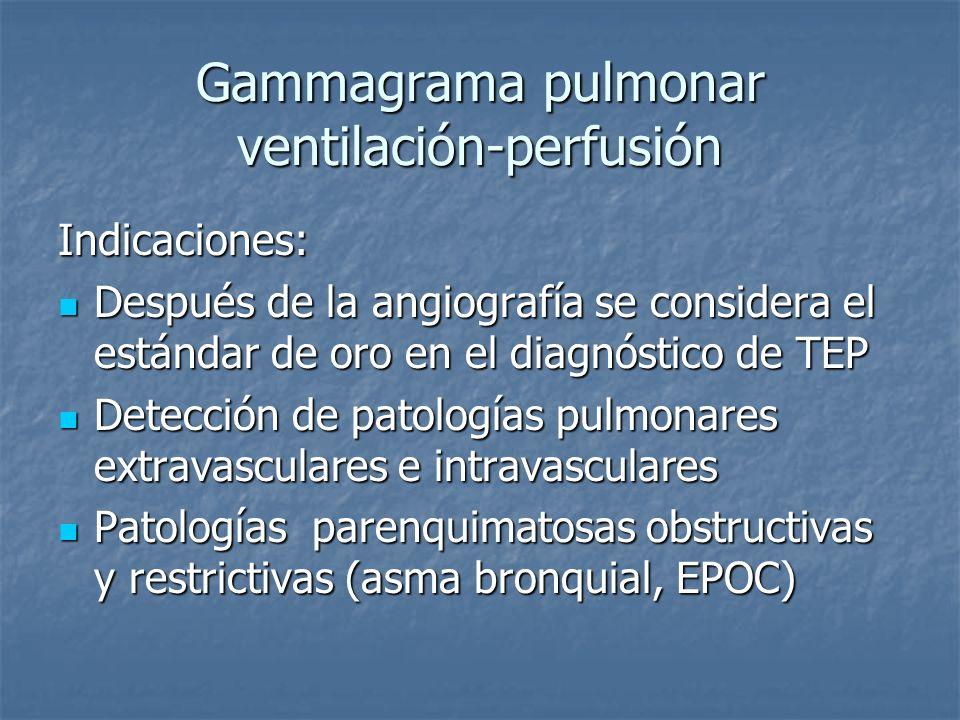 Gammagrama pulmonar ventilación-perfusión