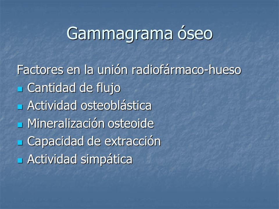 Gammagrama óseo Factores en la unión radiofármaco-hueso